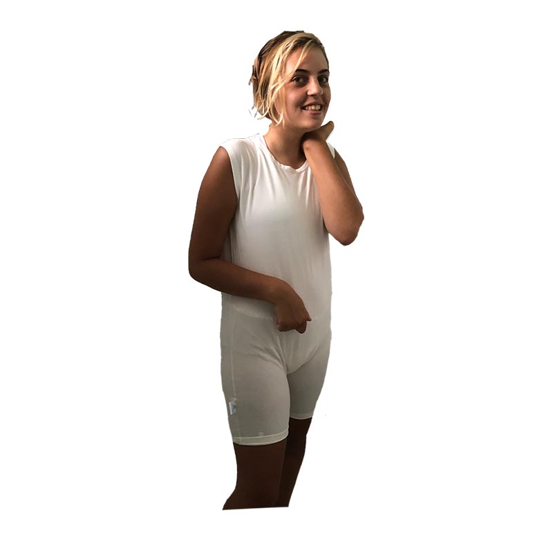 child special needs short style bodysuit - Special Needs Incontinence Clothing by Preventa Wear